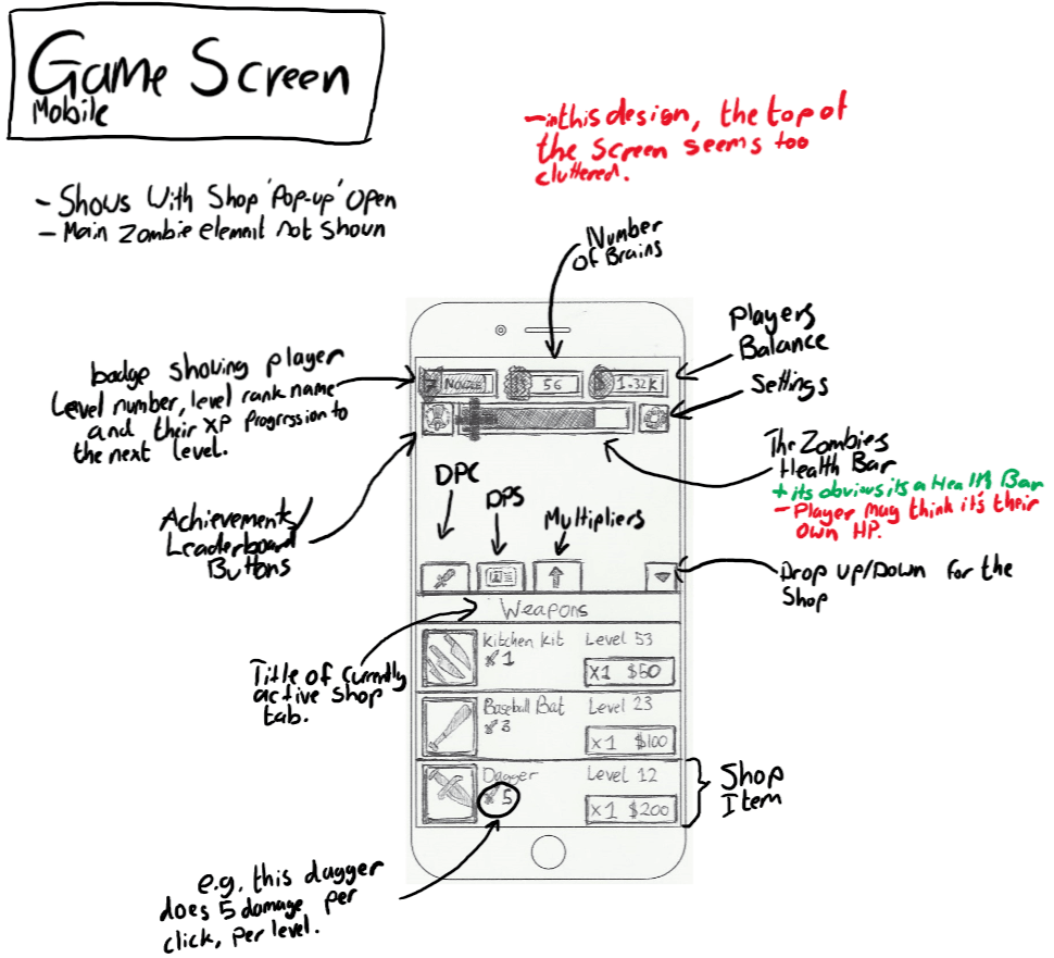 TapZ Game Screen Doc